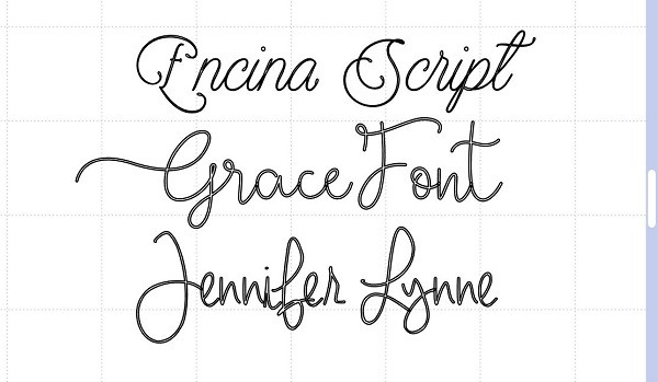 Examples of fonts that are not true type fonts but would turn out ok with the right pen and sizing.