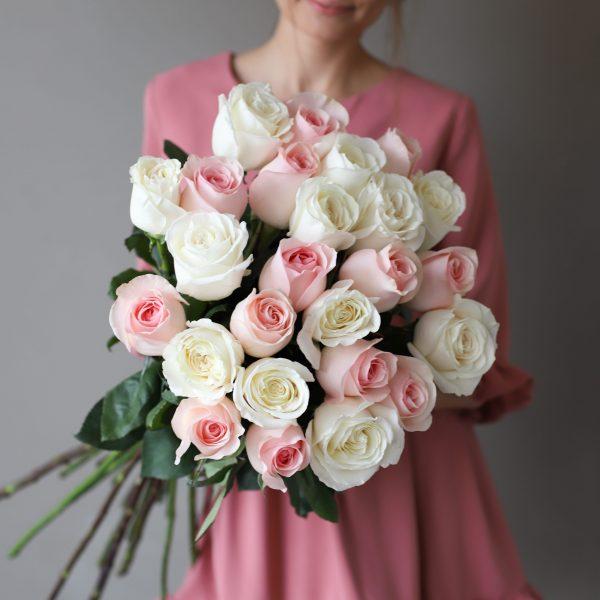 Монобукет из 25 роз (Эквадор) №1032 - Фото 1