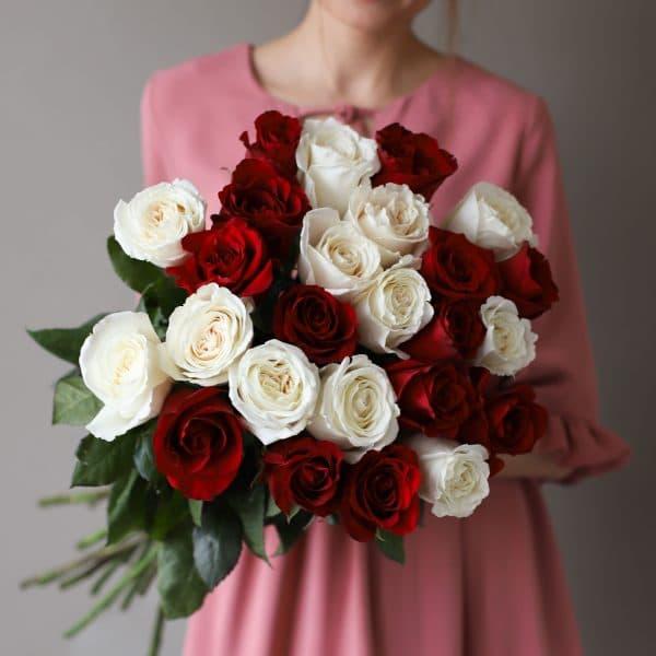 Монобукет из 25 роз (Эквадор) №1035 - Фото 3