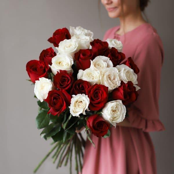 Монобукет из 25 роз (Эквадор) №1035 - Фото 1