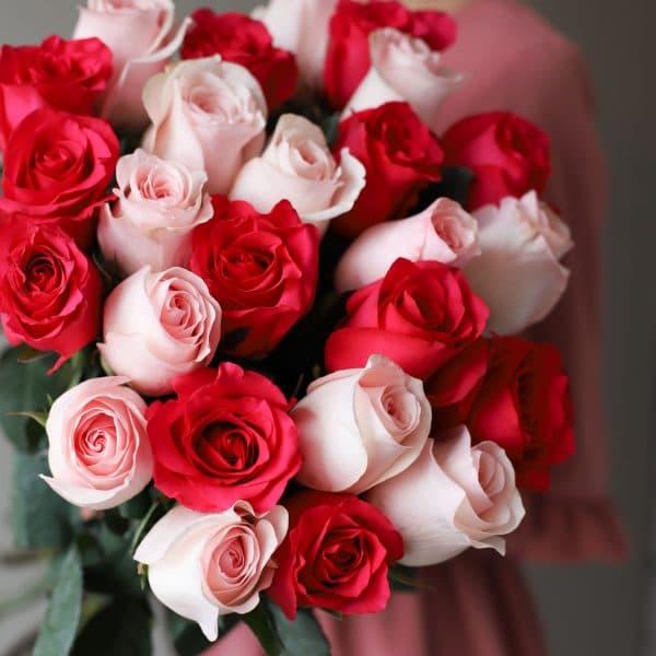 Монобукет из 25 роз (Эквадор) №1038 - Фото 2