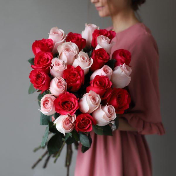 Монобукет из 25 роз (Эквадор) №1038 - Фото 3