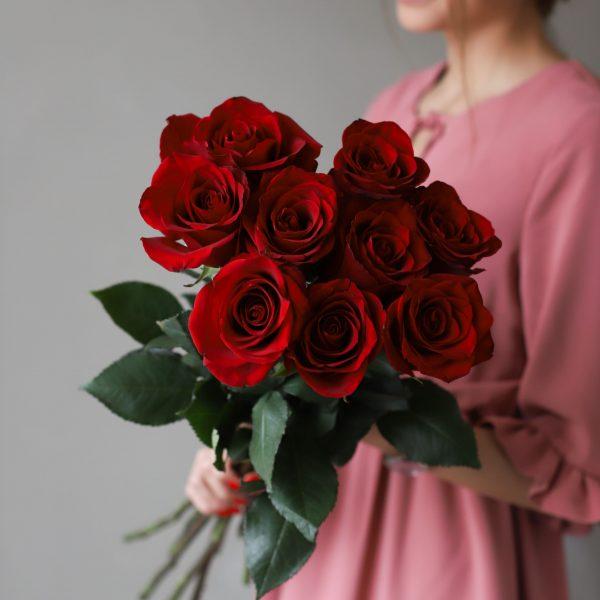 Монобукет из 9 роз (Эквадор) №1039 - Фото 3