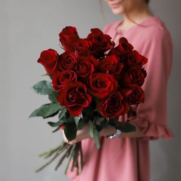 Монобукет из 15 роз (Эквадор) №1040 - Фото 2
