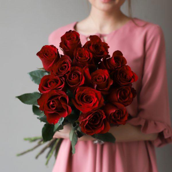 Монобукет из 15 роз (Эквадор) №1040 - Фото 1