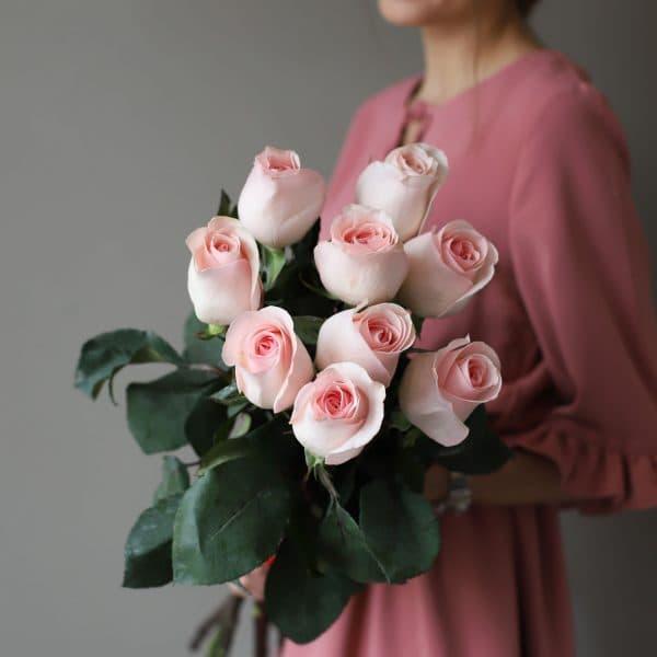 Монобукет из 9 роз (Эквадор) №1042 - Фото 1
