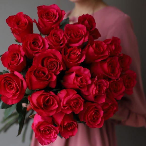 Монобукет из 25 роз (Эквадор) №1047 - Фото 2