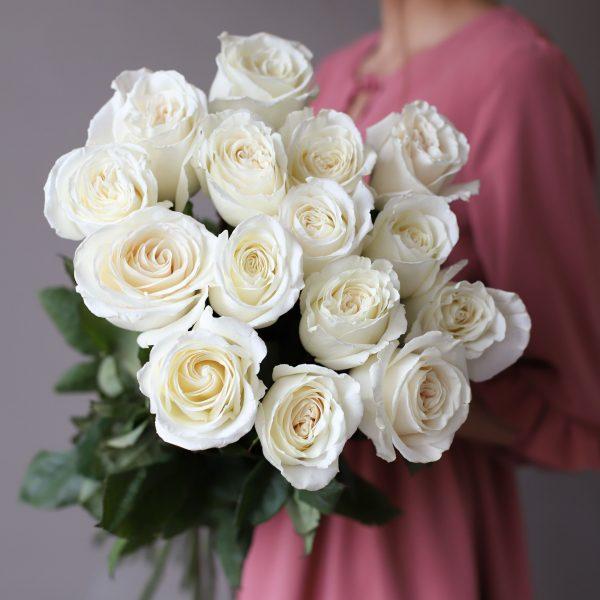 Монобукет из 15 роз (Эквадор) №1049 - Фото 2