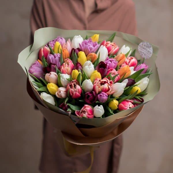 Монобукет из тюльпанов №1062 - Фото 2