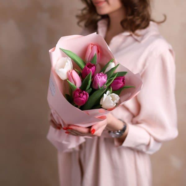 Монобукет из тюльпанов №1075 - Фото 3