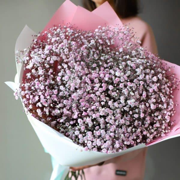 Монобукет из розовой Гипсофилы 11 шт №1087 - Фото 2