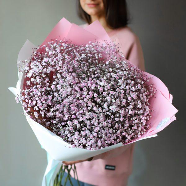 Монобукет из розовой Гипсофилы 11 шт №1087 - Фото 1