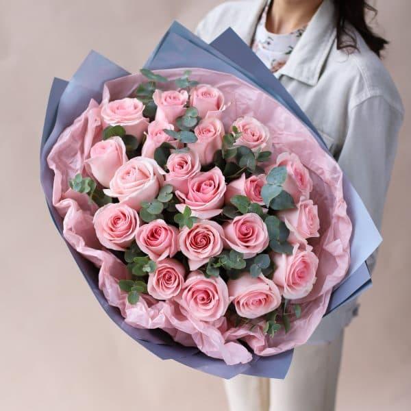 Букет из Роз с Эвкалиптом №836 - Фото 1