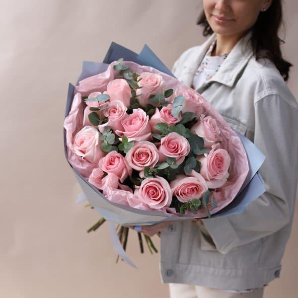 Букет из Роз с Эвкалиптом №837 - Фото 1