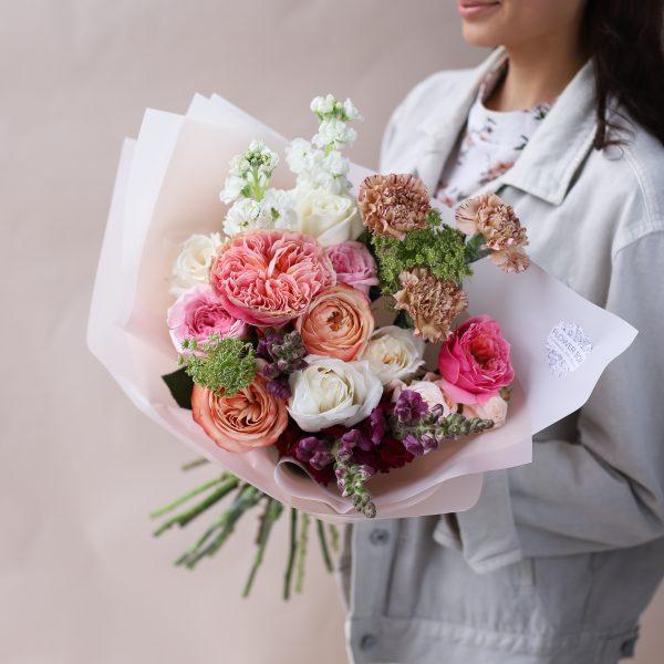 Букет с премиальными сортами цветов №851 - Фото 1