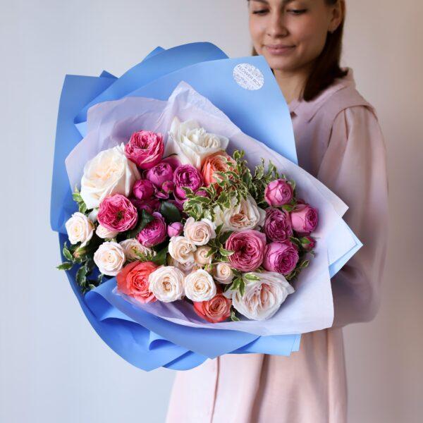 Букет из премиум пионовидных роз №1122 - Фото 1