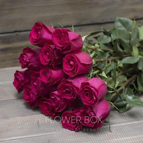 15 ярко розовых роз №070 - Фото 1