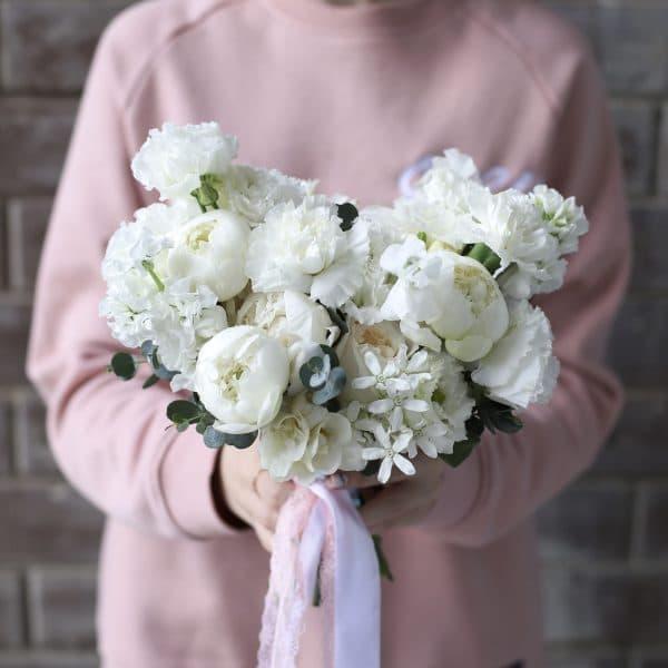 Свадебный букет в форме сердца №964 - Фото 1
