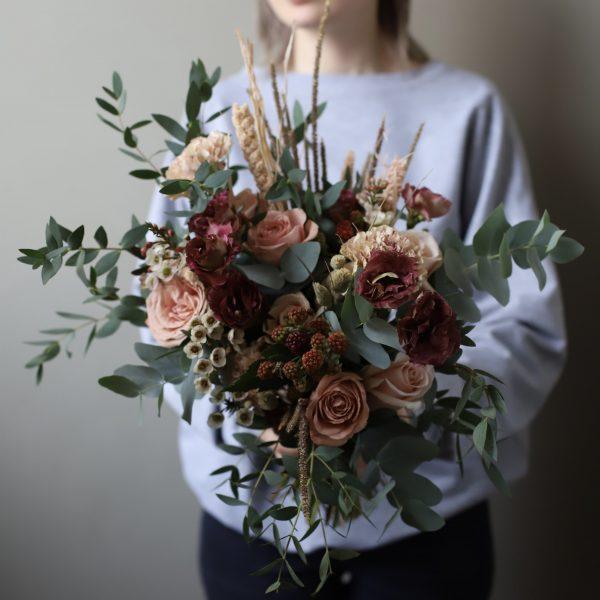 Свадебный букет в стиле рустик №941 - Фото 1