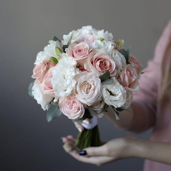 Классический свадебный букет в нежной гамме №938 - Фото 1