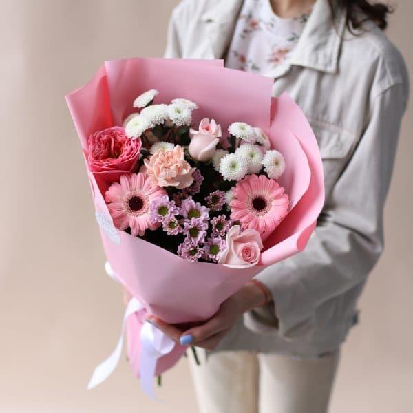 Букет комплимент в розовом оформлении №830 - Фото 2