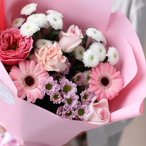 Букет комплимент в розовом оформлении №830 - Фото 3