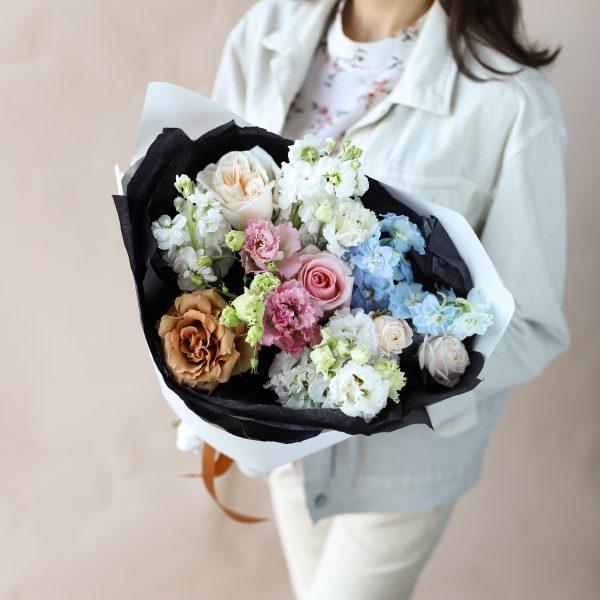 Сборный букет с винтажной розой №848 - Фото 3