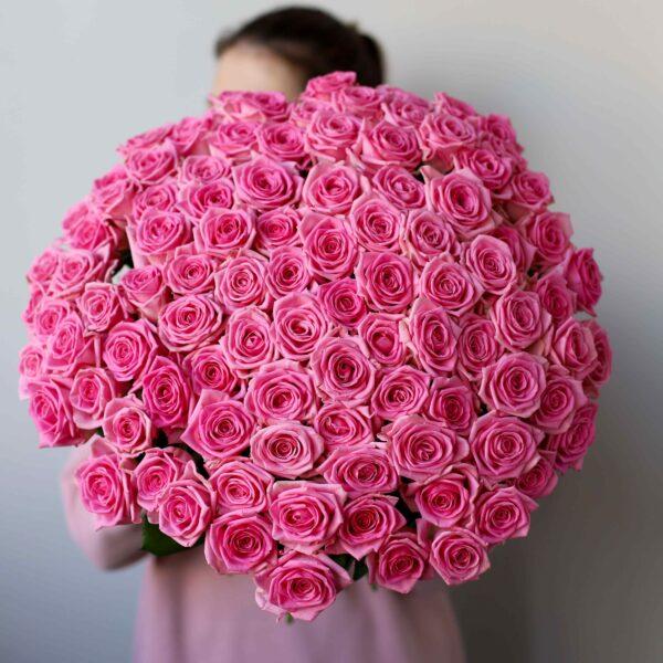 Монобукет из 101 Розы (Россия) №1144 - Фото 1