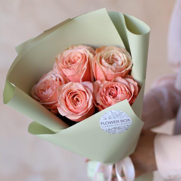 Монобукет из пионовидных роз №1158 - Фото 2