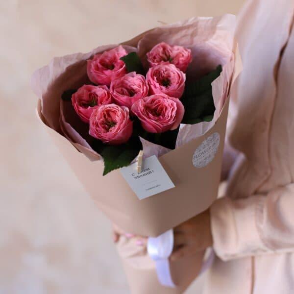 Монобукет из садовой розы №1150 - Фото 2