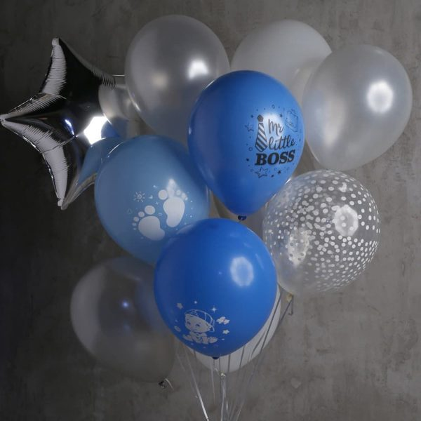 Композиция из 13 шаров и 1 звезды №594 - Фото 1