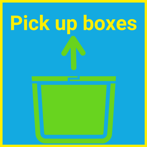 Pick up plastic moving boxes