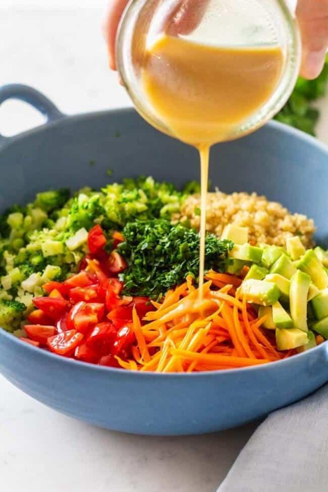 Quinoa Salad Green Healthy Cooking