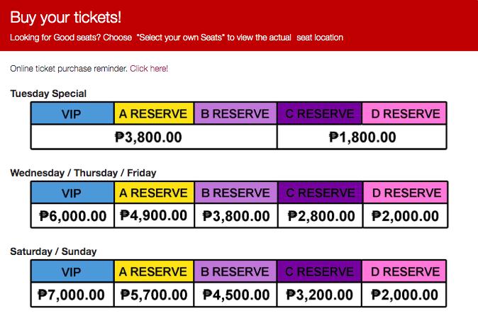 Tickets to Matilda The Musical Manila