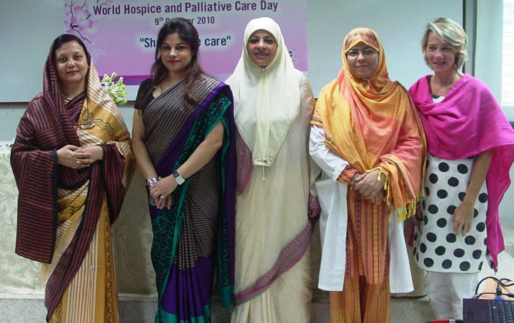 World Hospice and Palliative Day 2010 Zakeerin,Rumana,Mrs.Salma, Dr.Jamila, Ms Judy