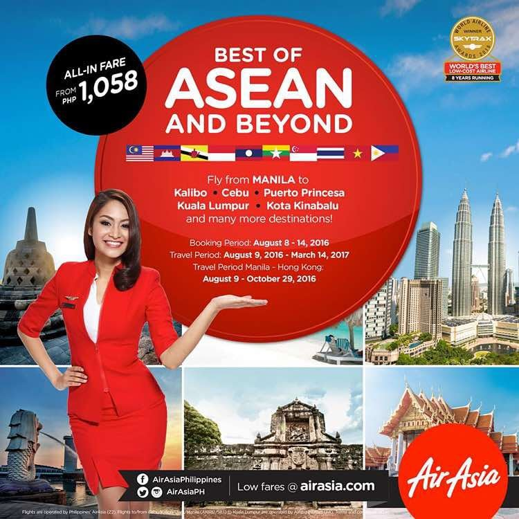 Philippines AirAsia - Asean Day - promotional fare