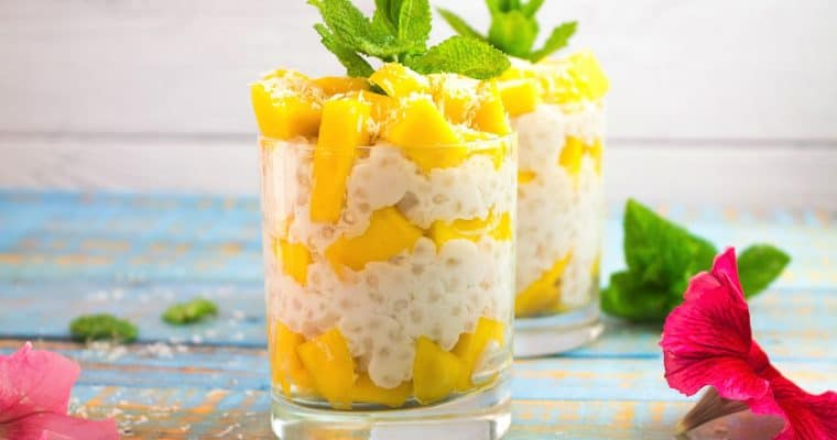 Mango Tapioca Pudding