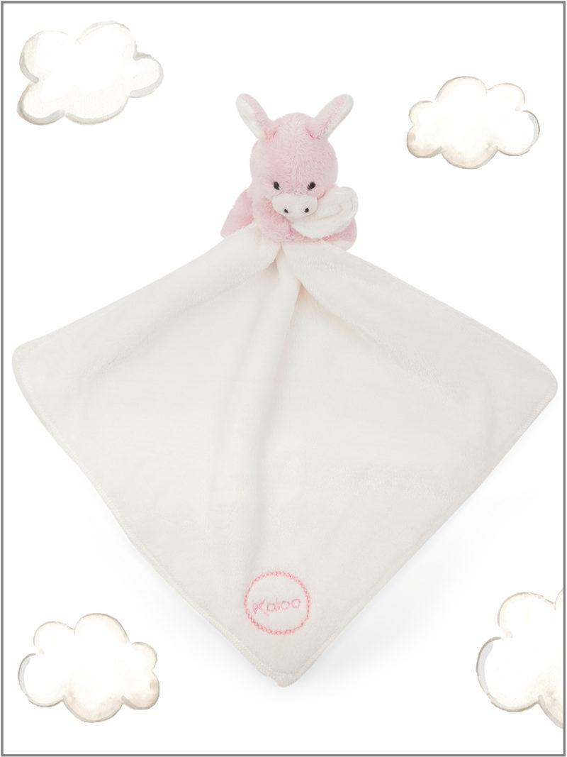 frederickandsophie-kids-toys-kaloo-france-comforter-donkey-amis-pink-doudou
