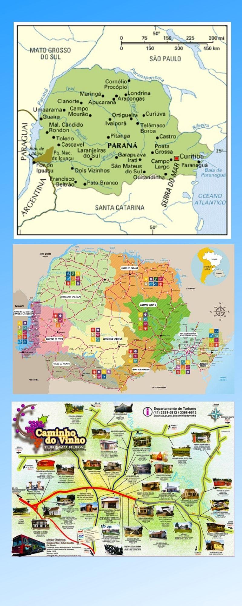 Infográfico Atrações Turísticas do Paraná 2