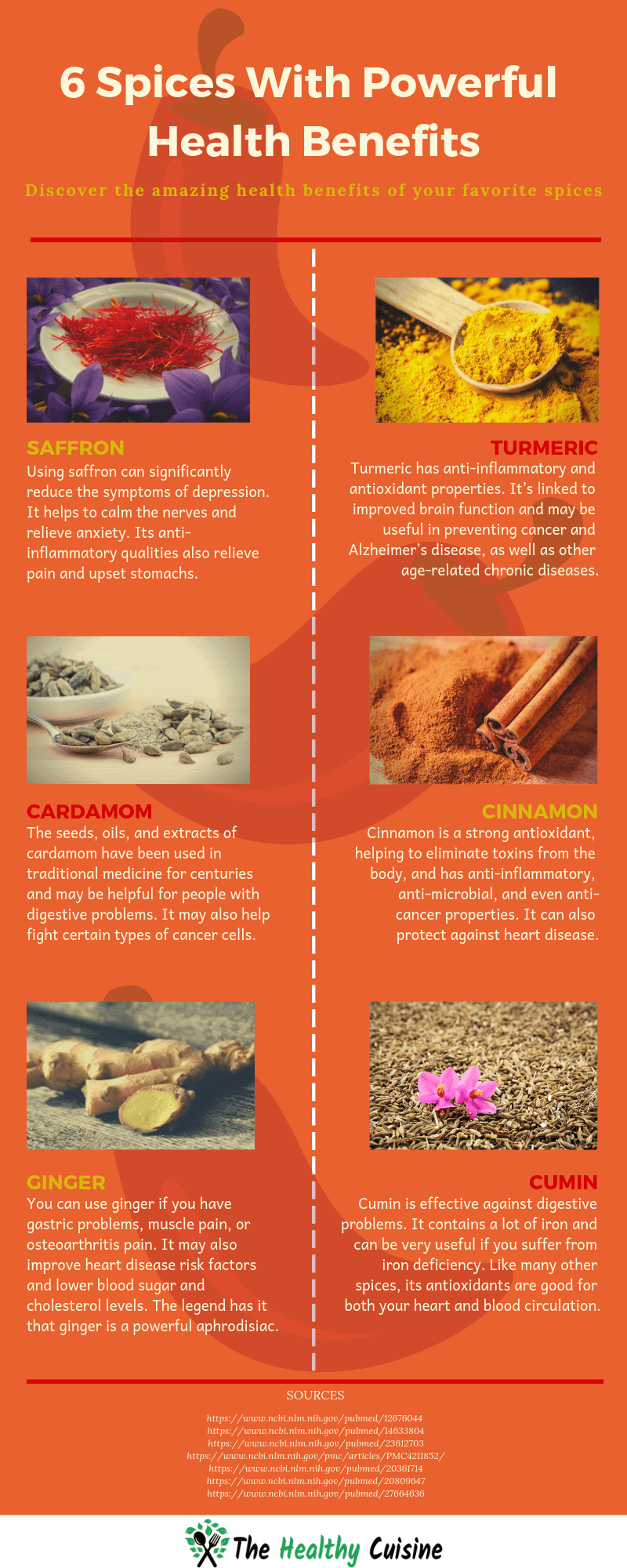 Health Benefits Spices Infographic