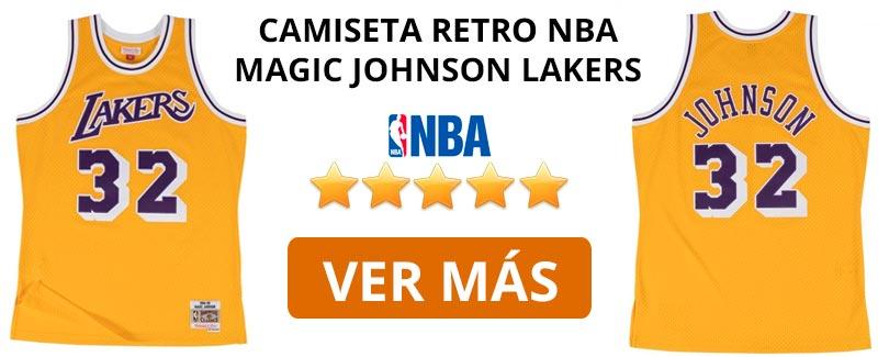Comprar camiseta retro NBA Lakers de Magic Johnson