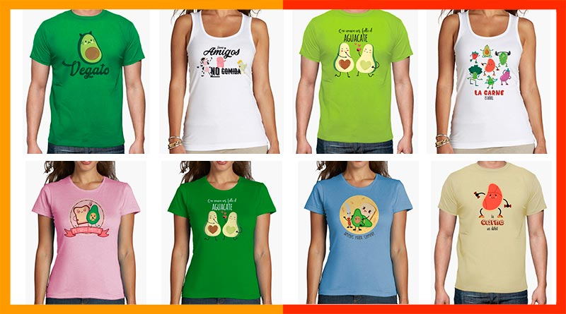 Camisetas veganas, vegetarianas y animalistas, con mensajes y motivos veganos…