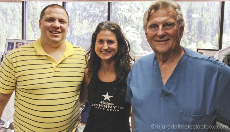 Chris Watts, ATC, me, and Dr. Steadman