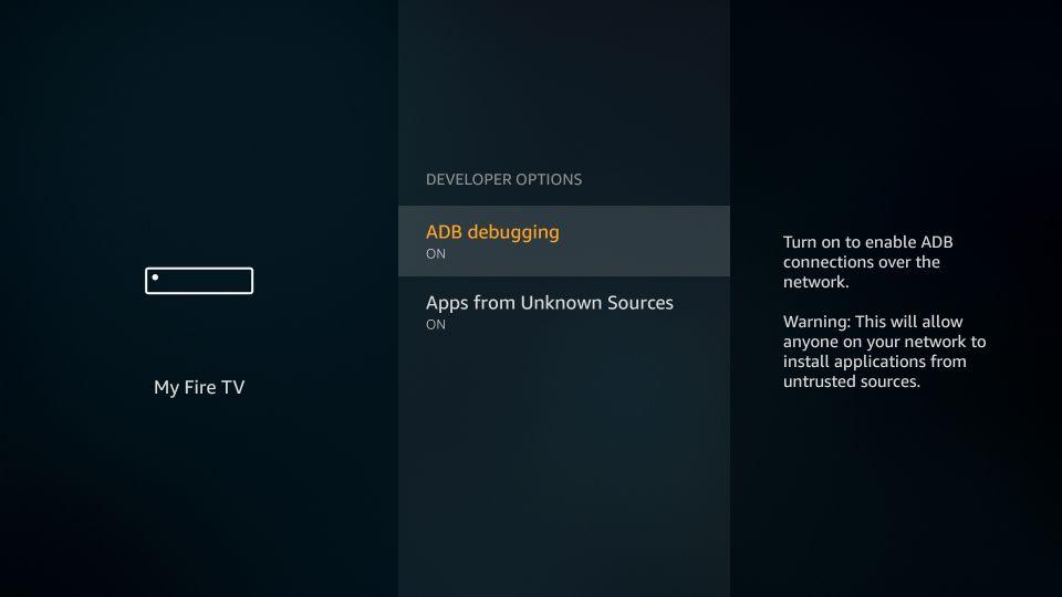 enable ADB Debugging