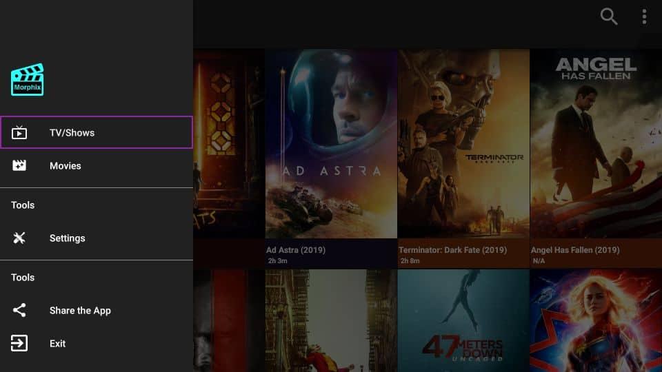 Morphix TV APK on Firestick