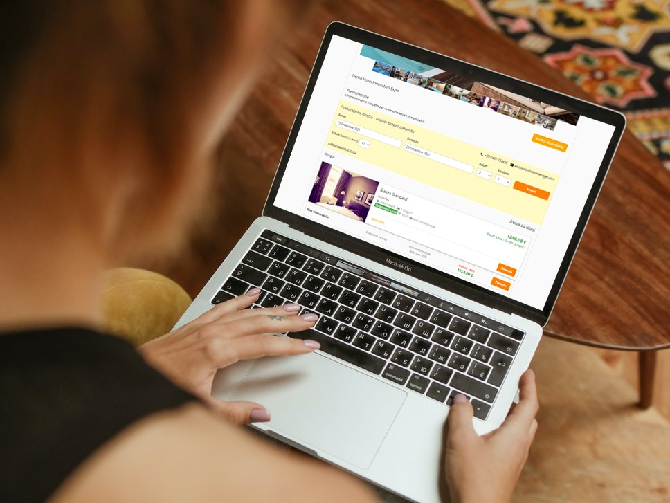 Un Booking Engine moderno per il sito web del tuo hotel.