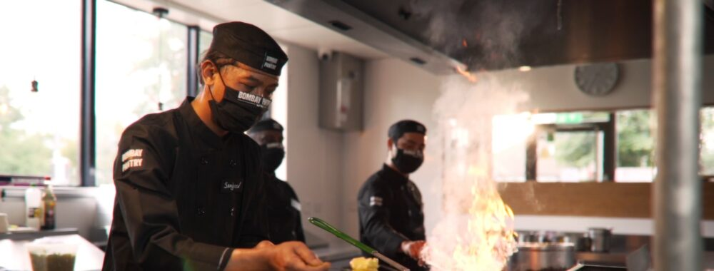 Bombay Pantry Chef Cooking in Action