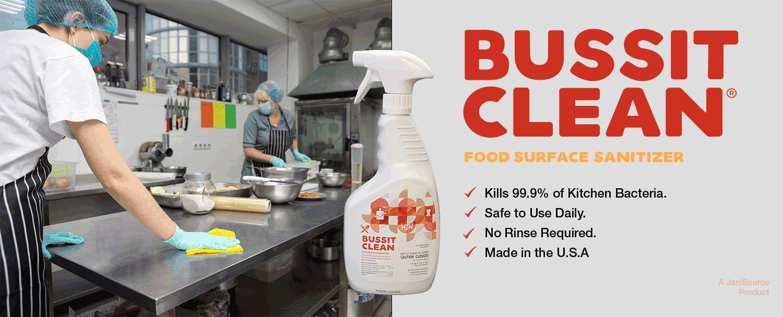 BussitClean sanitizing kitchen