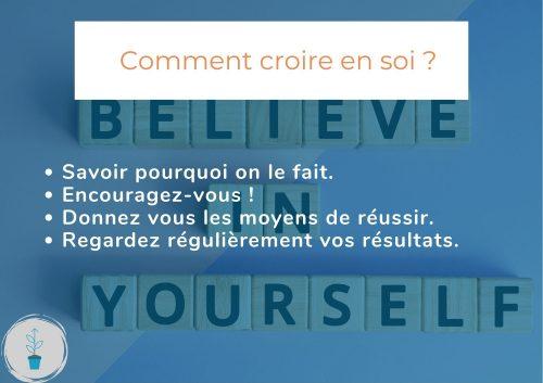 Comment croire en soi afin de réaliser ses projets ?