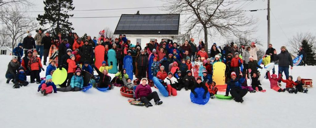 Sled Outing Boosts School Spirit